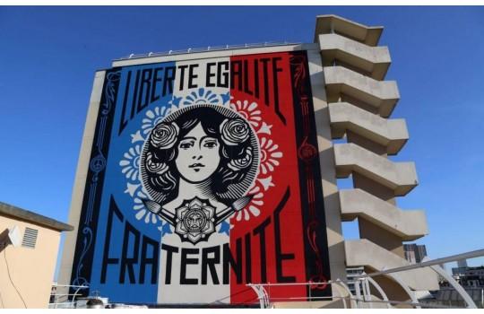 The Paris street art : the frescoes of the 13th